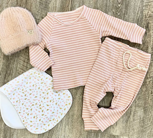 Pink Striped PJ Set - 2pc For Baby