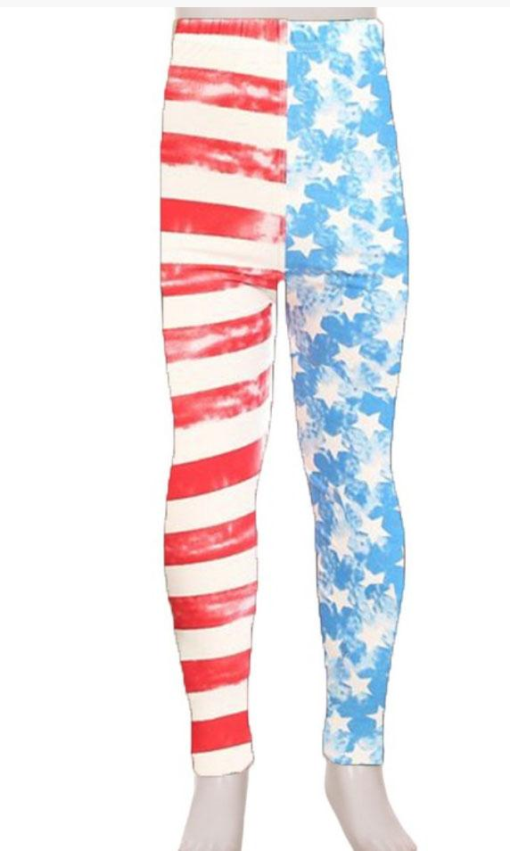 Vintage American Flag Leggings For Girls *Final Sale*