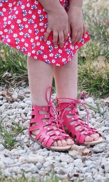 Pink Gladiator Sandals - Girls *Final Sale*