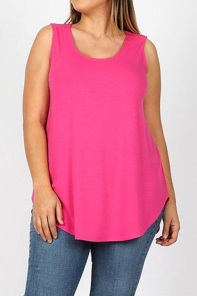 Hot Pink Essential Tank - Women *Final Sale*