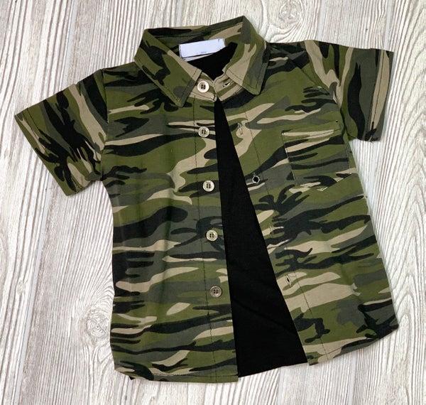 Kids Camo Button Up *Final Sale*