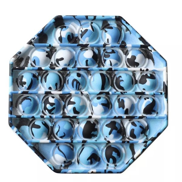 Blue Camo Octagon Fidget Popper *Final Sale*