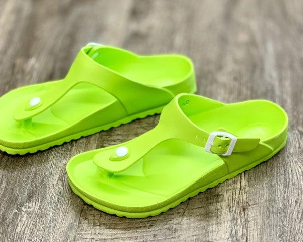 Corkys Lime Jet Ski Sandal