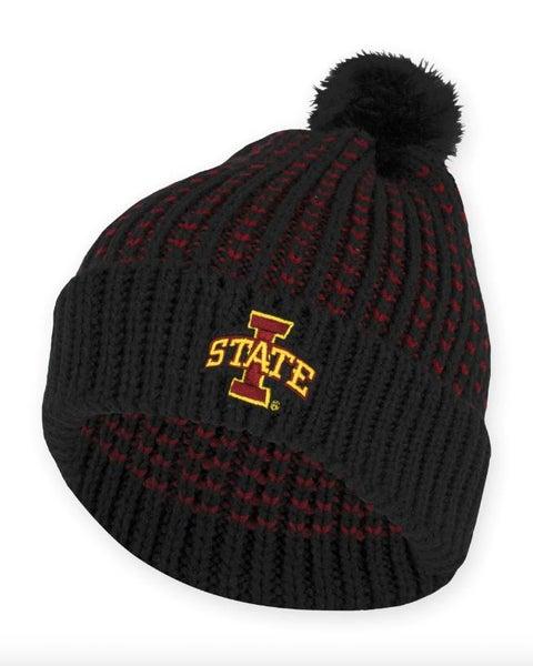 Iowa State Fur Pom Beanie