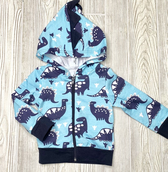 Dinosaur Sweatshirt Jacket *Final Sale*