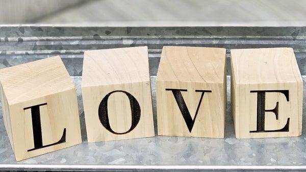 LOVE - Wood Block Set