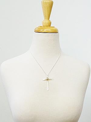 Silver Wire Wrapped Cross Necklace *Final Sale*