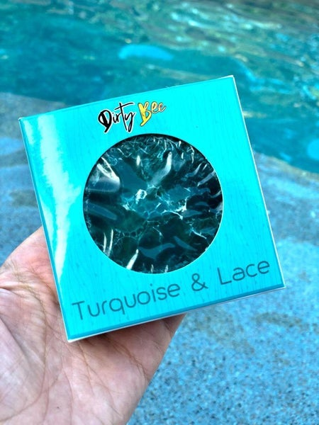 Dirty Bee Turquoise & Lace Loofah Soap *Final Sale*