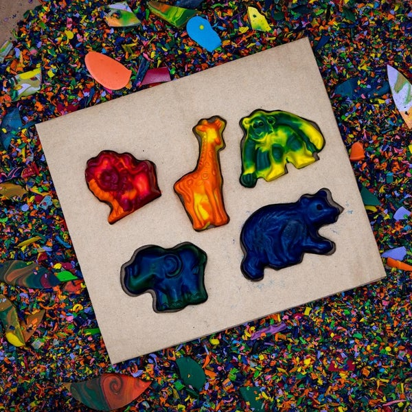 Zoo Animals Crazy Crayon Set *Final Sale*