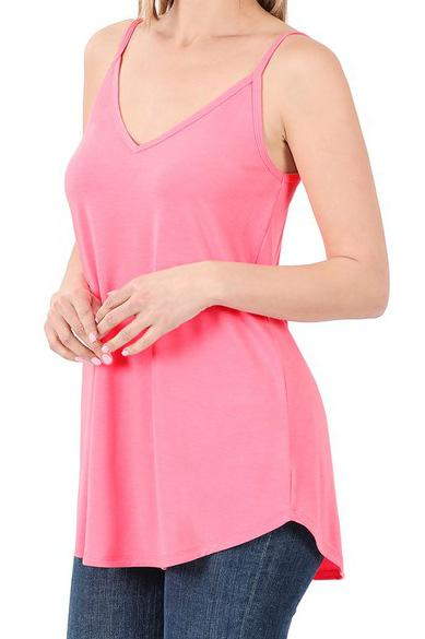 Bright Pink Reversible Tank For Women