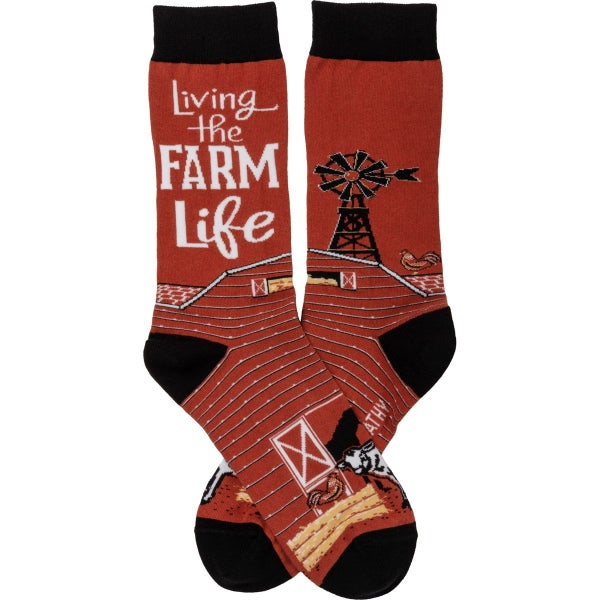 Living The Farm Life Socks For Adults *Final Sale*