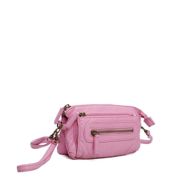 Bubblegum Pink Anita Crossbody Wristlet For Women