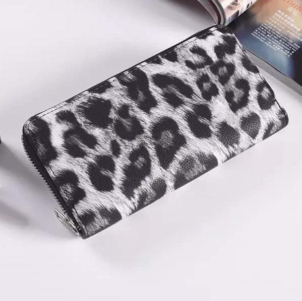 White Leopard Wallet *Final Sale*