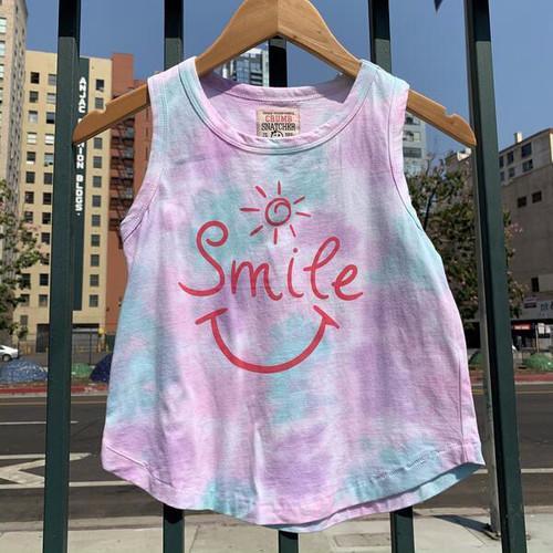Smile Tie Dye Tank Top For Girls