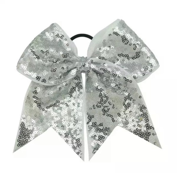 Silver Sequin Cheer Bow *Final Sale*