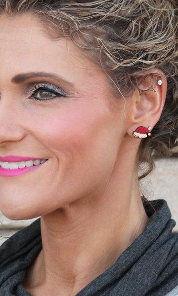 Santa Hat Stud Earrings *Final Sale*