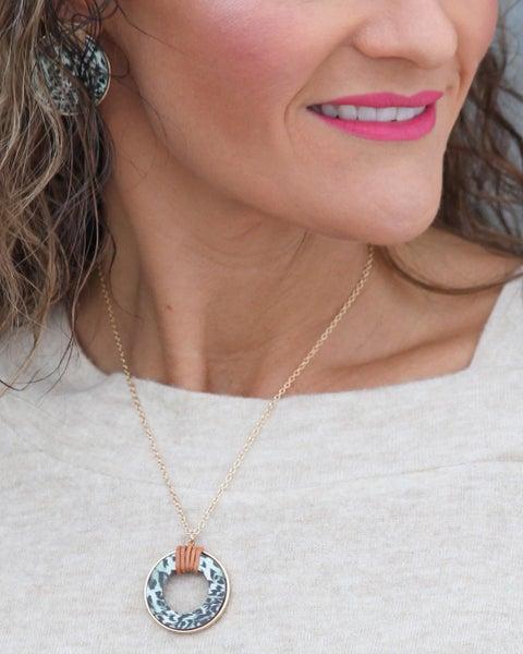 Mint Leopard Necklace *Final Sale*