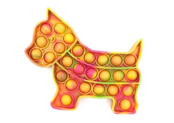 Neon Tie Dye Dog Fidget Popper *Final Sale*
