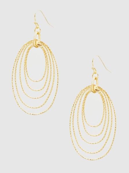 Gold Oval Stacked Hoop Earrings *Final Sale*
