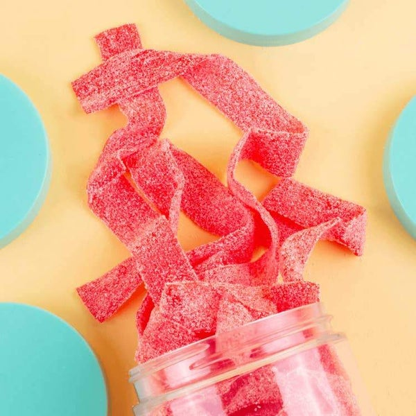 Strawberry Sour Belts - Candy Club Candy Bites *Final Sale*