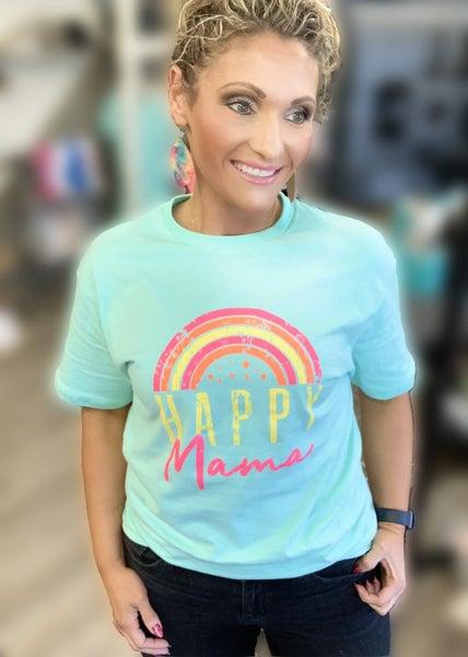 Happy Mama Graphic Tee For Women