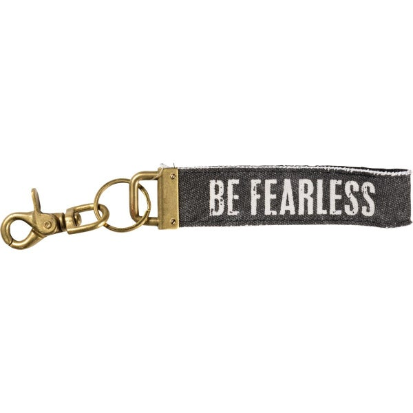Be Fearless Canvas Keychain *Final Sale*