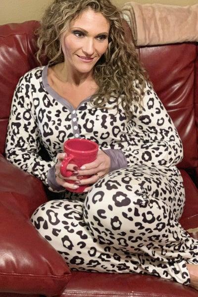 2 pc Animal Print Loungewear Set For Women