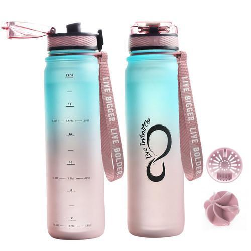 Rose & Teal Ombre 24oz Sports Bottle