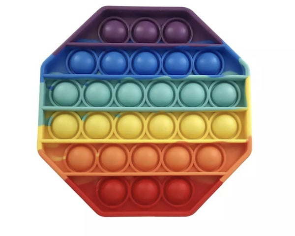 Rainbow Octagon Fidget Popper *Final Sale*
