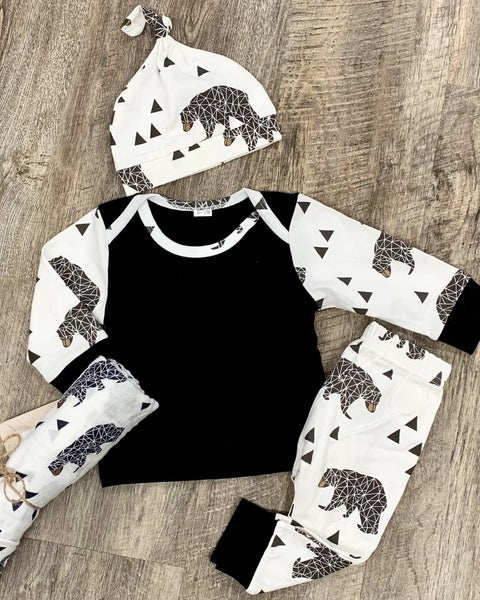 3pc Baby Bear Outfit Set