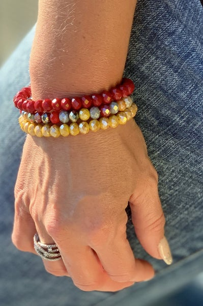Red & Gold Bracelet Stack For Women *Final Sale*