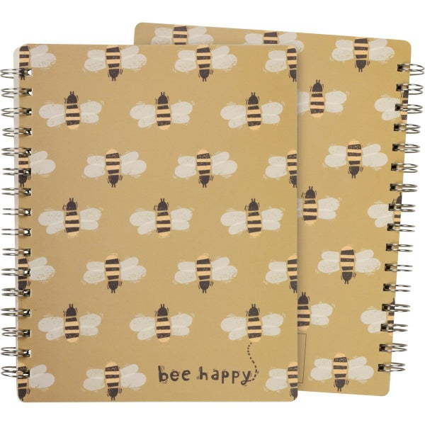 Bee Happy Spiral Notebook *Final Sale*