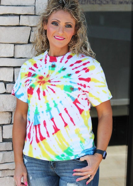 Bright Lights Tie Dye Tee For Women *Final Sale*
