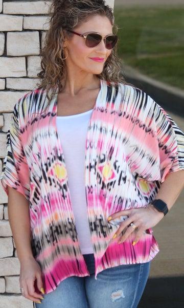 Pink Starburst Kimono - Women One-Size *Final Sale*