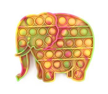Neon Tie Dye Elephant Fidget Popper *Final Sale*