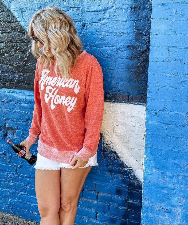 American Honey Lightweight Sweatshirt For Women
