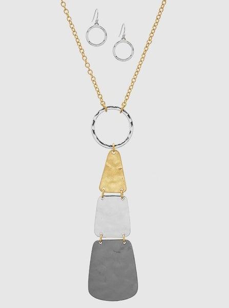 Gold Triple Up Necklace *Final Sale*