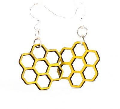 Honeycomb Wood Earrings *Final Sale*