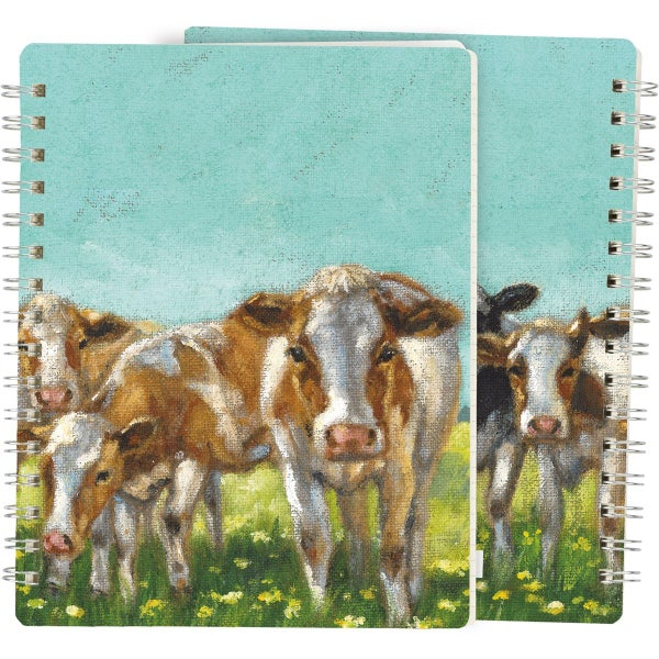Cows On The Farm Spiral Notebook *Final Sale*