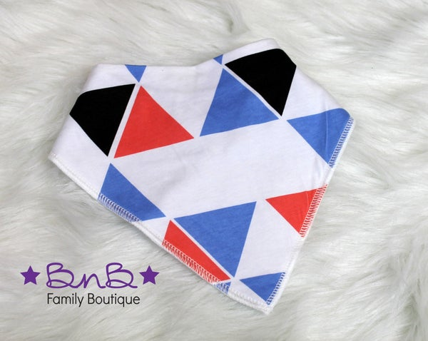 Triangles Bandana Bib