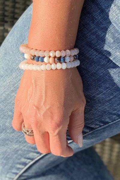 Slate Blue Bracelet Stack For Women *Final Sale*