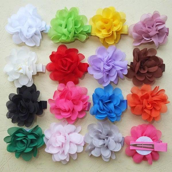 2pk Chiffon Flower Clips *Final Sale*
