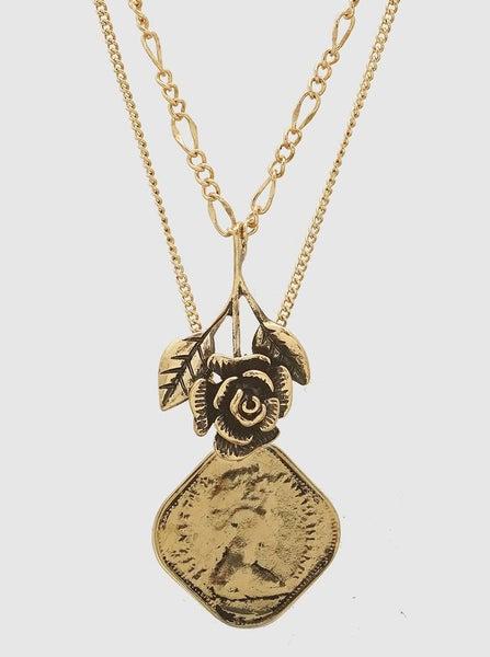 Vintage Rose Layered Necklace *Final Sale*