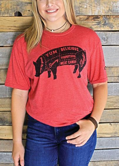 Tasty Pig Graphic Tee For Adults
