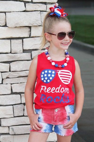 Freedom Rocks Tank Top For Girls *Final Sale*