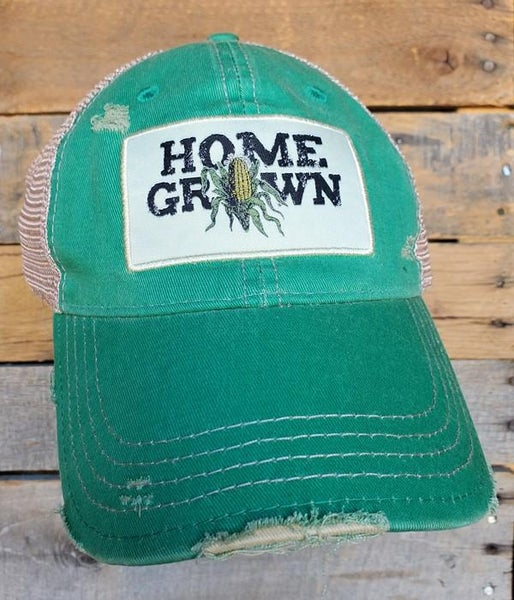 Home Grown Distressed Trucker Hat For Adults *Final Sale*