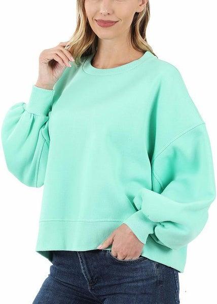 Luxurious Mint Sweatshirt