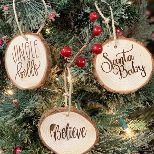 Santa 3pk Bundle of Ornaments