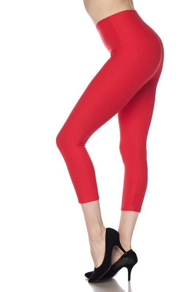 "Red Essential Capri 5"" Waistband - Women *Final Sale*"