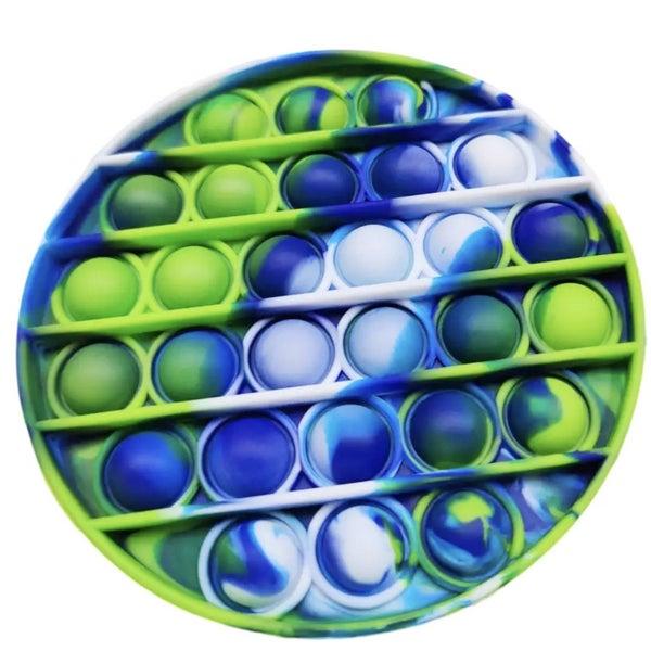Blue & Green Round Fidget Popper *Final Sale*